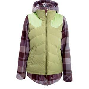 Nike Snowboarding Vest Faux Down Zip L